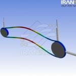 تحلیل ارتعاشی و سازه ای تسمه انتقال قدرت Power Transmission Flat Belt Vibration