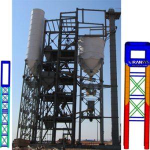 تحلیل سازه ای و کمانش برج نگهدارنده مخازن اختلاط Drive Mortar Mixing Equipment Tower