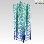 حلیل سازه ای و ارتعاشی برج 45 متری پتروشیمی