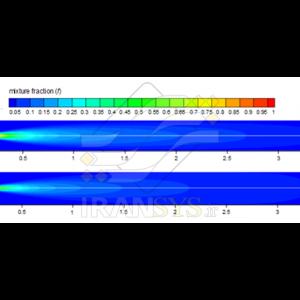 بررسی مدلهای احتراقی در شبیهسازی عددی کوره دوار سیمان Investigation of Combustion Models in Numerical Simulation of Cement Rotary Kiln